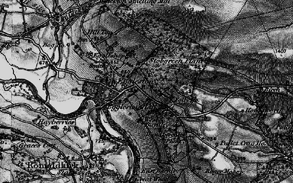 Old map of Eggleston in 1897