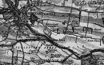 Old map of Egglestone Abbey in 1897