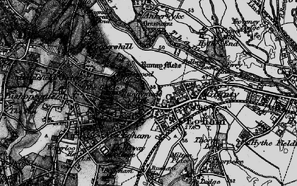 Old map of Egham in 1896