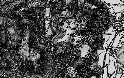 Old map of Wick Pond in 1896