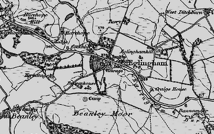 Old map of Bannamoor in 1897