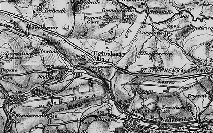 Old map of Egloskerry in 1895