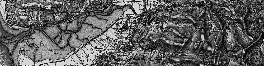 Old map of Ynys-hir Nature Reserve in 1899