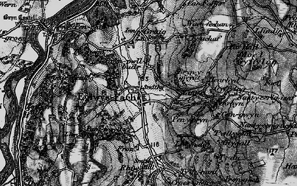 Old map of Eglwysbach in 1899
