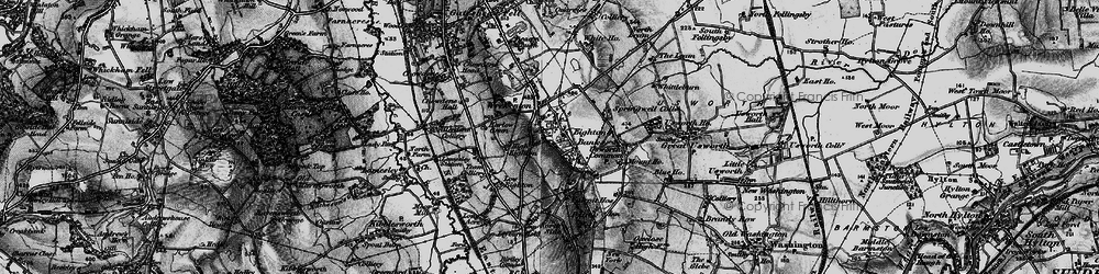 Old map of Eighton Banks in 1898