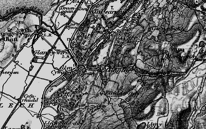 Old map of Afon Eisingrug in 1899