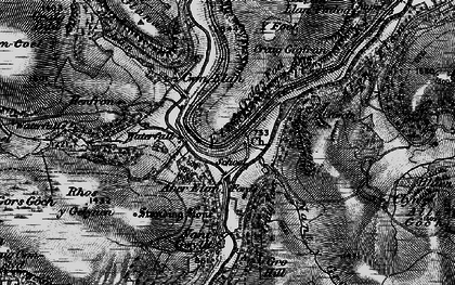 Old map of Elan Valley in 1898