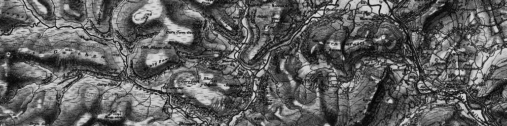 Old map of Elan Valley in 1898