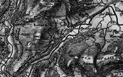 Old map of Y Glog Fawr in 1898
