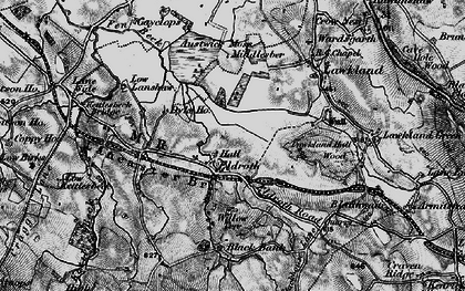 Old map of Accerhill Hall in 1898