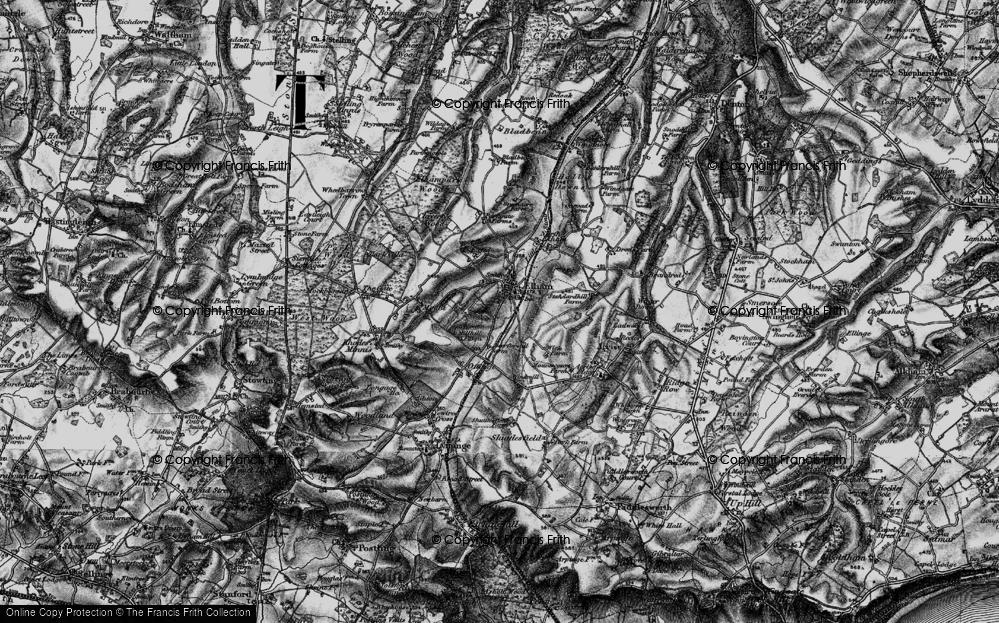 Old Map of Elham, 1895 in 1895