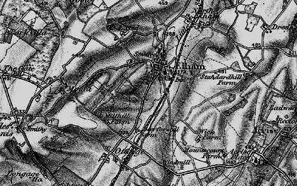Old map of Elham in 1895