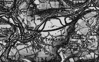 Old map of Elland in 1896