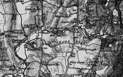 Old map of Lane End in 1898