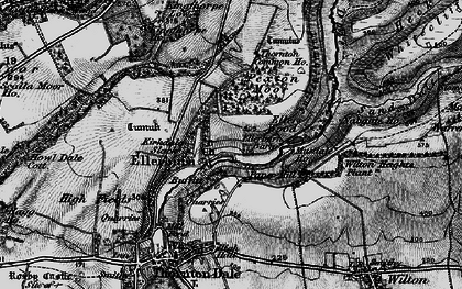 Old map of Wilton Heights Plantn in 1898