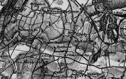 Old map of Ellerby in 1898