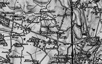 Old map of Windy Oak in 1899