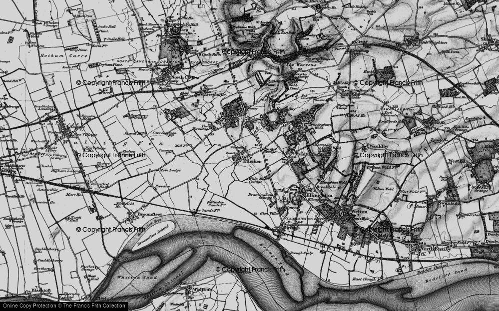 Old Map of Ellerker, 1895 in 1895
