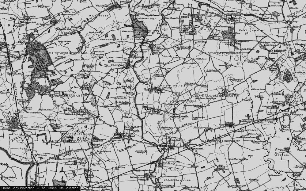 Old Map of Ellerton, 1898 in 1898
