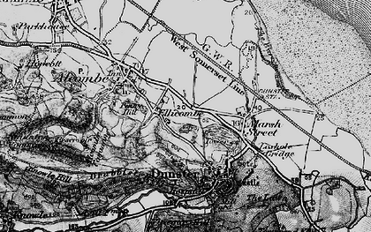 Old map of Aldersmead in 1898