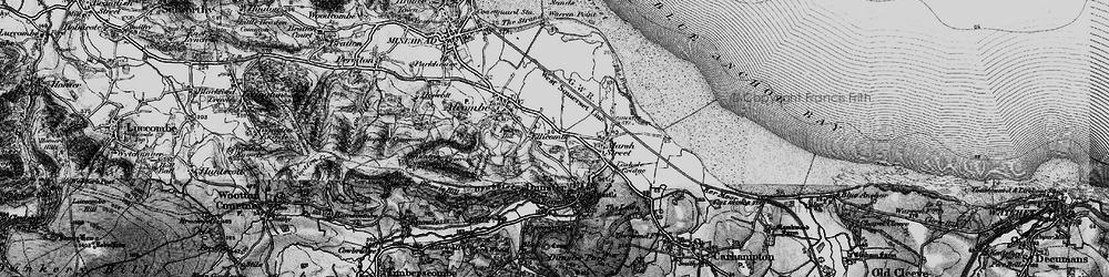 Old map of Aldersmead in 1898