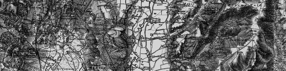 Old map of Ellingham in 1895