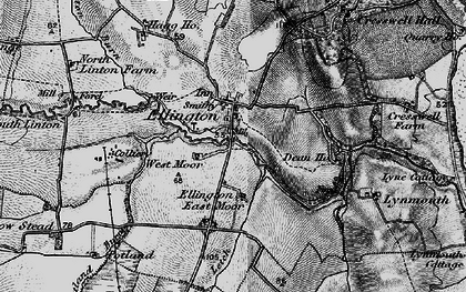 Old map of Ellington in 1897