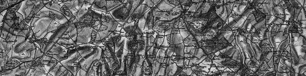 Old map of White Hill in 1895