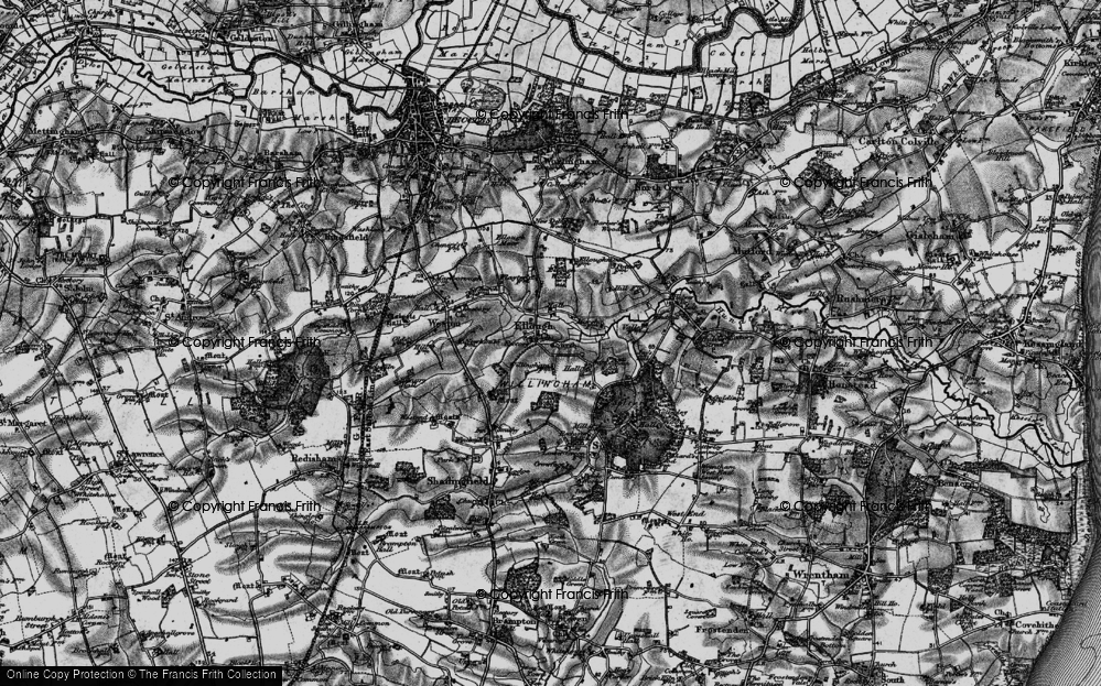 Old Map of Historic Map covering Likely Wood in 1898