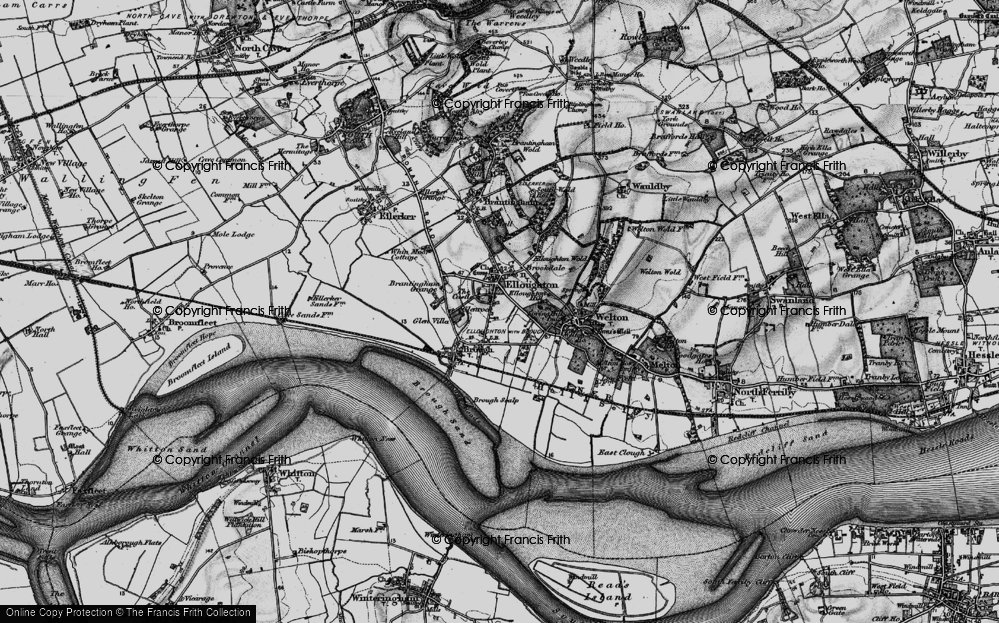 Old Map of Elloughton, 1895 in 1895