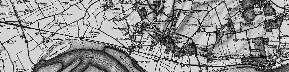 Old map of Elloughton in 1895