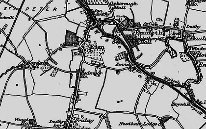 Old map of Elm in 1898