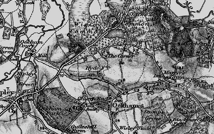 Old map of Elm Corner in 1896