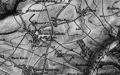 Old map of Elm Cross in 1898