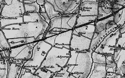 Old map of Elm Park in 1896