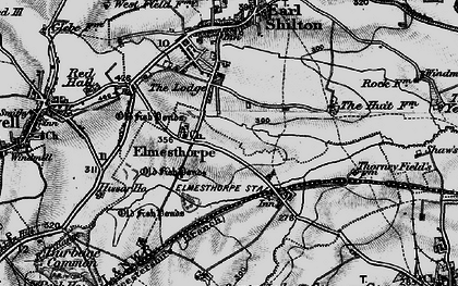 Old map of Aston Firs in 1899