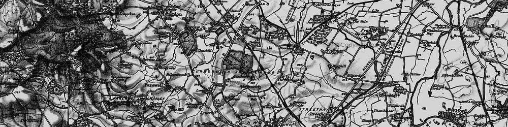 Old map of Tomhay Wood in 1898
