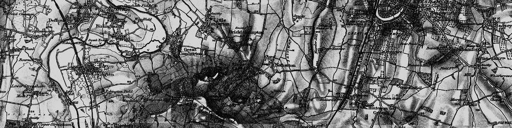 Old map of Elmley Castle in 1898