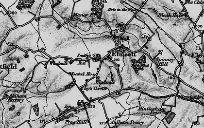 Old map of Aldham Priory in 1896