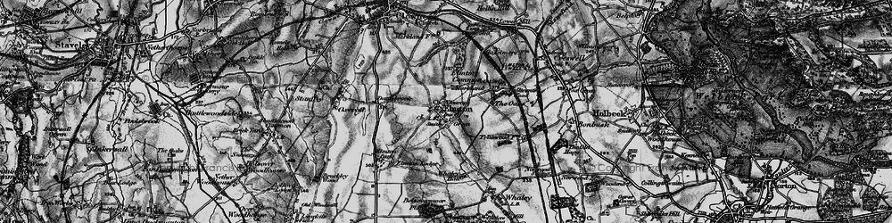 Old map of Whaley Hall in 1896