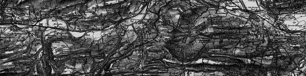 Old map of Yellow Rigg in 1897