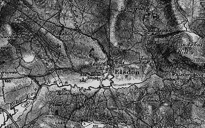 Old map of Leech-hope Crag in 1897