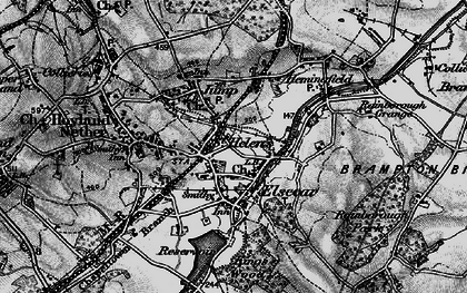 Old map of Elsecar in 1896