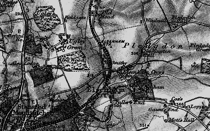 Old map of Alsa Wood in 1895