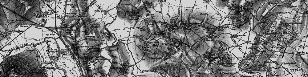Old map of Wick Copse in 1895
