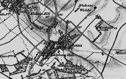 Old map of Wrawby Moor in 1895