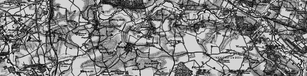 Old map of Elsing in 1898