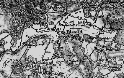 Old map of Elstead in 1895