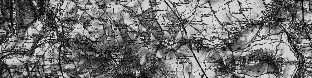 Old map of Aldenham Resr in 1896