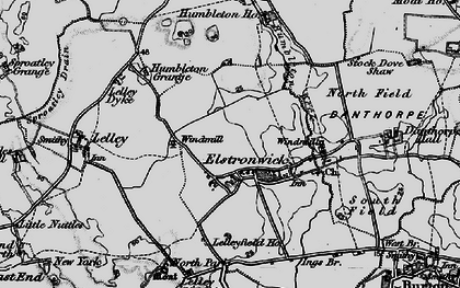 Old map of Lelley Grange in 1895